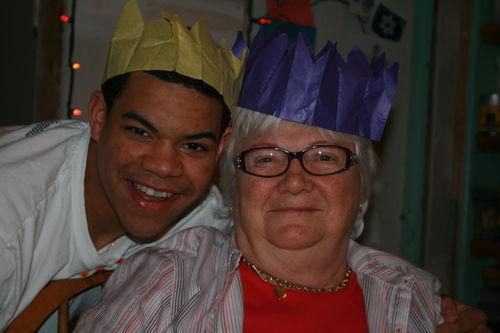 Nick and Mom on Christmas Day