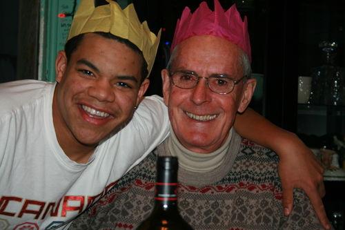 Nick and Dad on Christmas Day