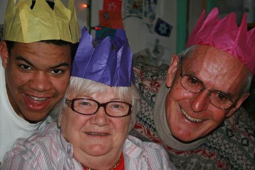 Nick, Mom and Dad on Christmas Day