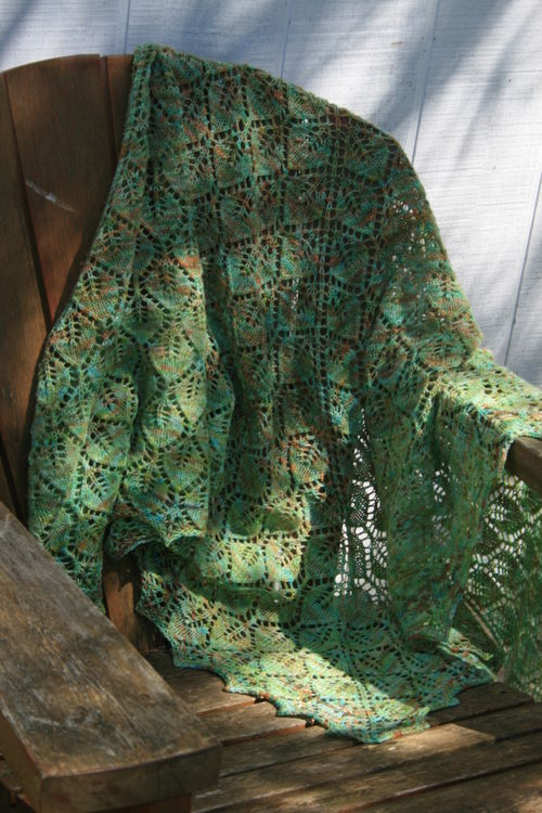 Cascading Leaves Shawl