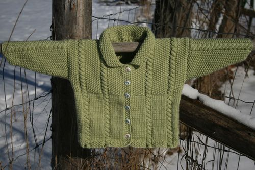 Cable and Moss Stitch Jacket