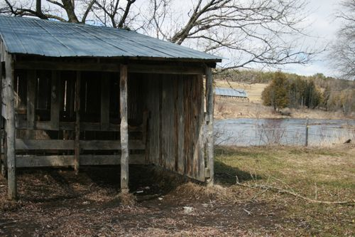 Pony Shed facing the creek